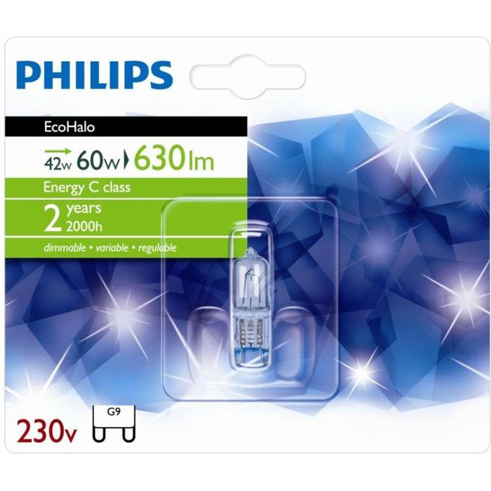 42w 230v Ecohalo CapsuleAmpoule G9 Philips w80mnN