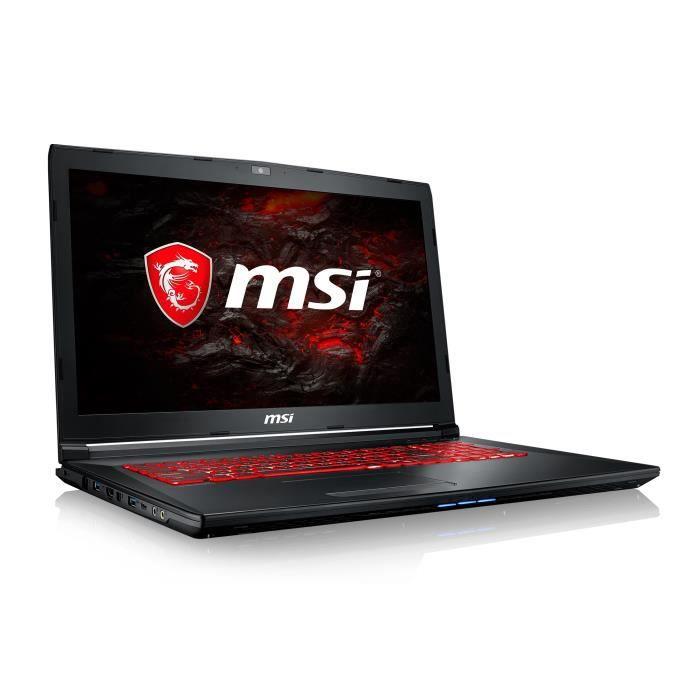 """ORDINATEUR PORTABLE MSI PC Portable Gamer GL72M 7REX-1202FR 17,3"""" FHD"""