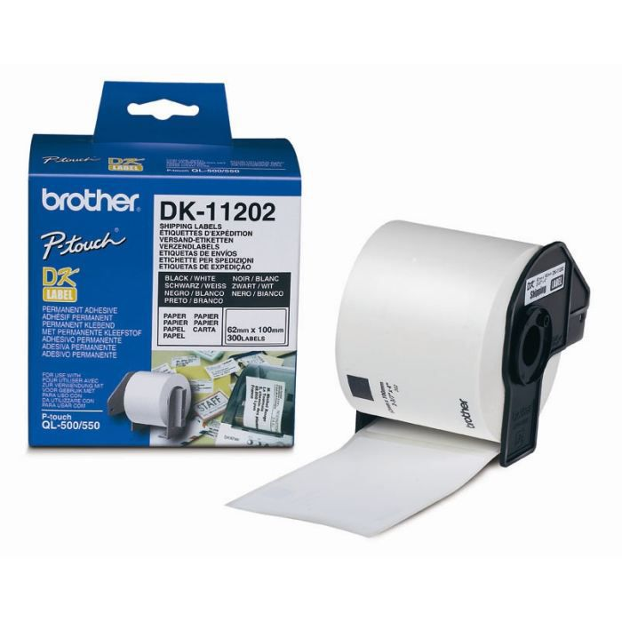 BROTHER Ruban papier P-TOUCH DK-11202 - 62x100mm