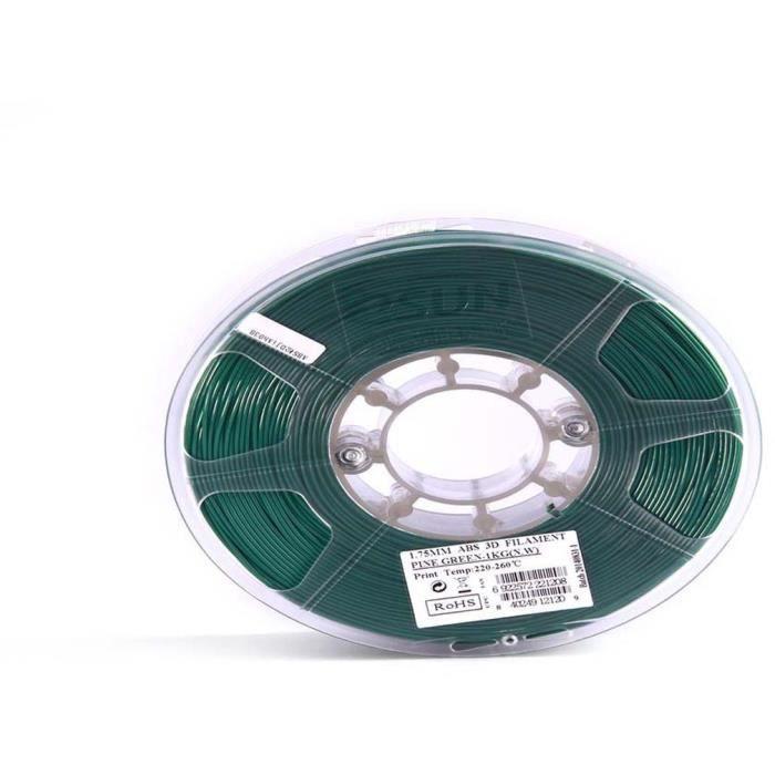ESUN Filament pour Imprimante 3D ABS ESUN - Vert Sapin - 3 mm - 1kg