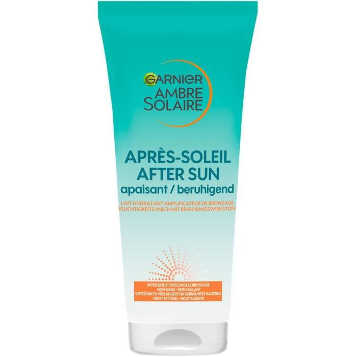 GARNIER Ambre Solaire Après-soleil - Soin hydratant amplificateur de bronzage - 200 ml