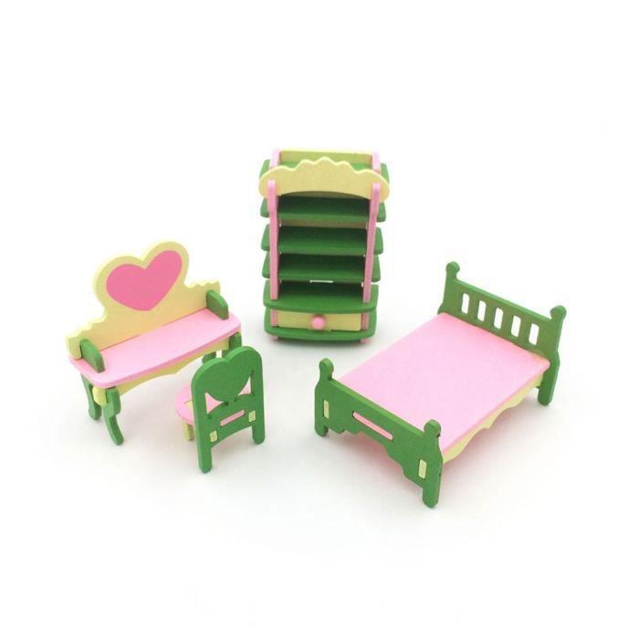 Kid Play House Jouet Bois Cuisine Salon Bébé Ornements Mini Jouets