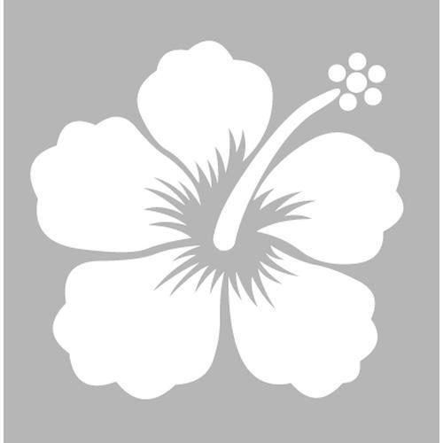 Pochoir 8 x 8 cm hibiscus dtm achat vente pochoir - Dessin d hibiscus ...