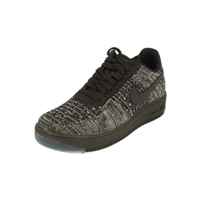 low priced 82488 160c1 Nike Femme Af1 Air Force 1 Flyknit Low Running Trainers 820256 Sneakers  Chaussures 7