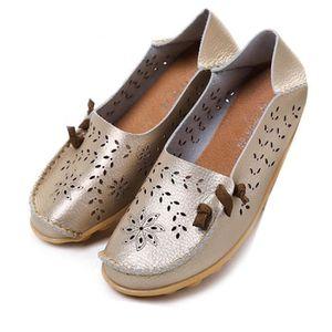 Mocassin Femmes Printemps Ete Mode Classique Plat Chaussure BJXG-XZ086Blanc39 CZiXT
