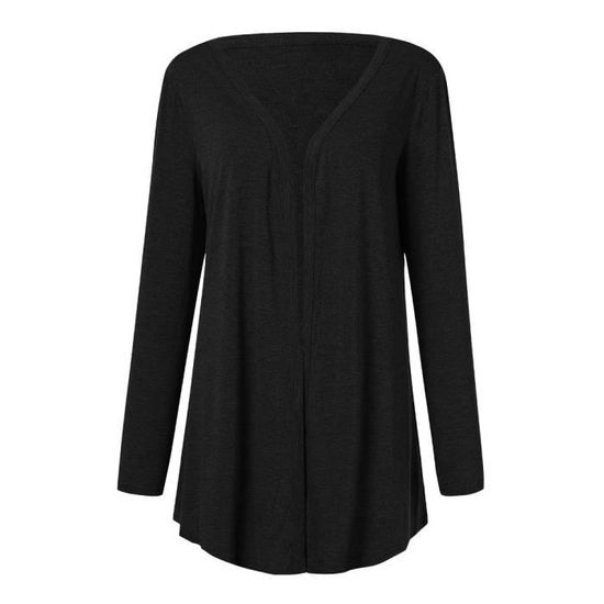 Fit Pure Ouvert Outwear Size Femmes Color Longues Manteau Plus Manches Casual Pageare7761 Avant 8HnXwxgq0