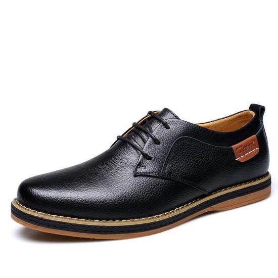 Richelieu Mode Hommes Cuir Chaussures Noir zVSMpU