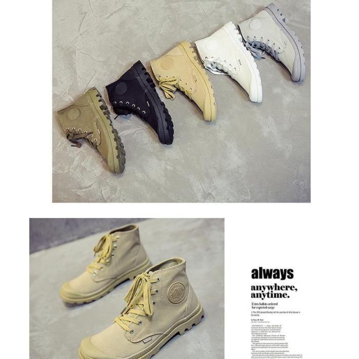 Bottes hommes chaussures de toile respirantes haut bottes hommes