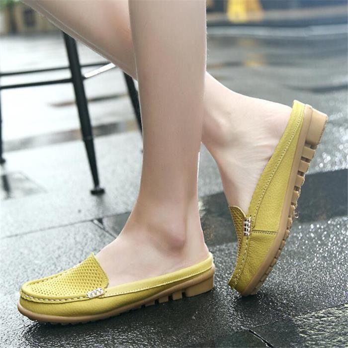 Durable Chaussure Ylg Mocassin xz045jaune40 Femmes Cuir Occasionnelles Cw7Wqfz
