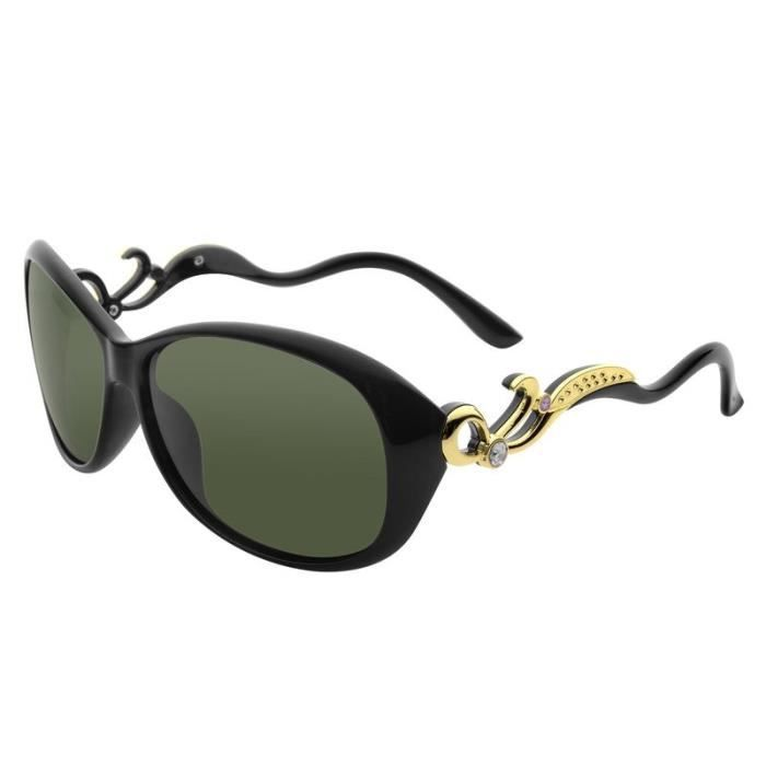 Zodaca® Lunettes de Soleil Polarisantes 100% Protection UV 400 Pour Conduite Automobile Pilotage Sports Extérieurs, Noir1
