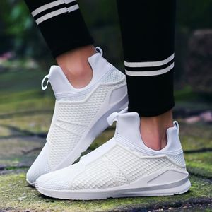 Respirables Mesh Sport Chaussures Casual Mode Hommes Slip-On Chaussures pour hommes,blanc,43