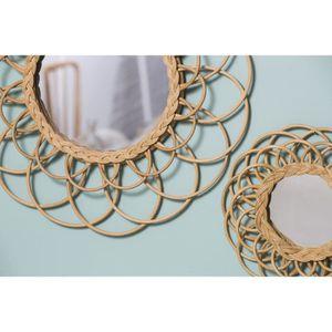 miroir rond achat vente miroir rond pas cher cdiscount. Black Bedroom Furniture Sets. Home Design Ideas