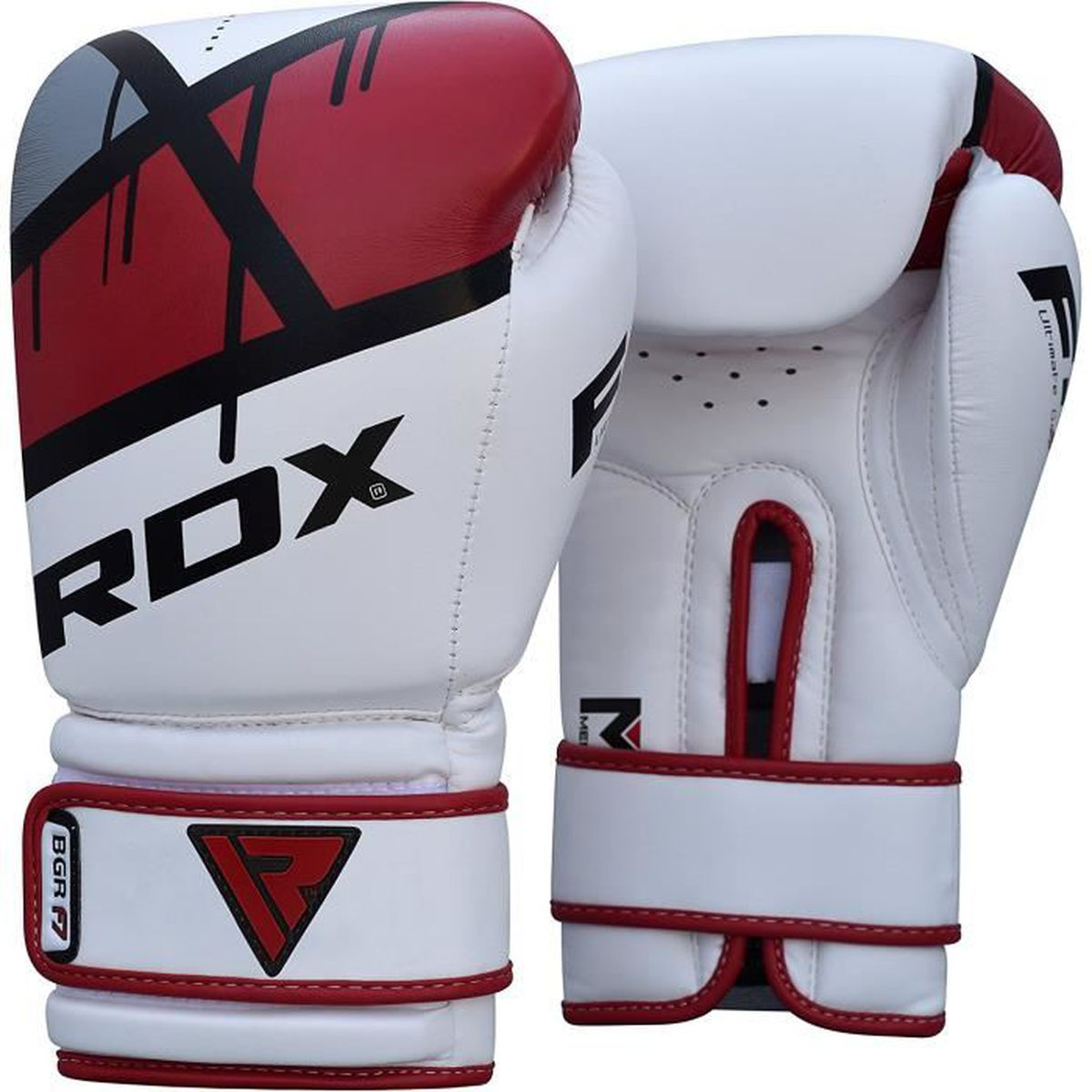 RDX Gants de Boxe Ego Muay Thai kickboxing Gant Sac Frappe Sparring Entrainement Mitaines Competition Maya Hide Boxing Gloves F7R