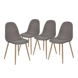 CHAISE CHARLTON Lot de 4 chaises de salle à manger en mét
