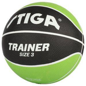 BALLON DE BASKET-BALL STIGA Ballon de basket-ball Trainer - Vert et noir
