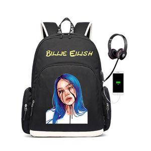SAC À DOS INFORMATIQUE Billie Eilish USB Sac à Dos De Charge étudiant Sac