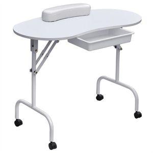 TABLE DE MANUCURE Pliable facile Caryy manucure Table Draw poignet c
