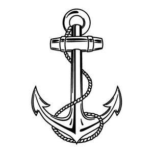 Ancre De Bateau Dessin sticker ancre marine - achat / vente pas cher
