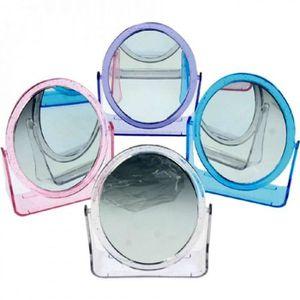 MIROIR Lot de 12 - Miroir oval double face 13cm coloris a