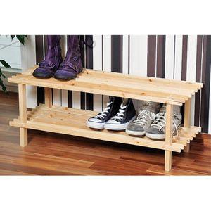 BOITE DE RANGEMENT Range chaussures - Bois - 2 niveaux