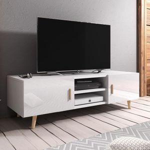 MEUBLE TV Meuble TV / Meuble salon - RIVANO 2 - 140 cm - bla