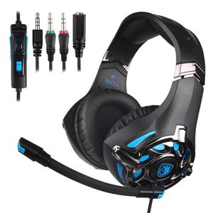 CASQUE AVEC MICROPHONE Casque Gaming pour PS4, Xbox One, PC, Console Anti