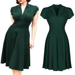 46dc09ade68 ROBE Women s 2017New Vintage Style Retro 1940s Shirtwai