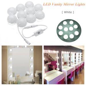 coiffeuse avec miroir lumineux achat vente coiffeuse. Black Bedroom Furniture Sets. Home Design Ideas