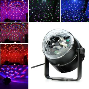 OBJETS LUMINEUX DÉCO  LED Crystal Mini RGB Magic Ball scène Effet lampe