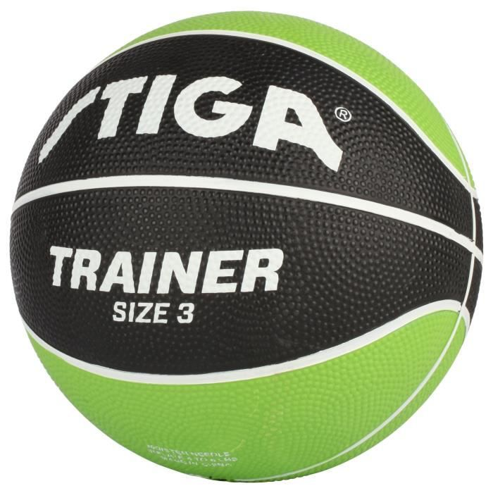 STIGA Ballon de basket-ball Trainer - Vert et noir - Taille 3