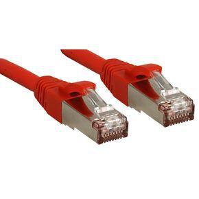 LINDY Câble réseau patch cat.6 S/FTP PIMF Premium - cuivre - LSOH - 500MHz - 0,3m - rouge