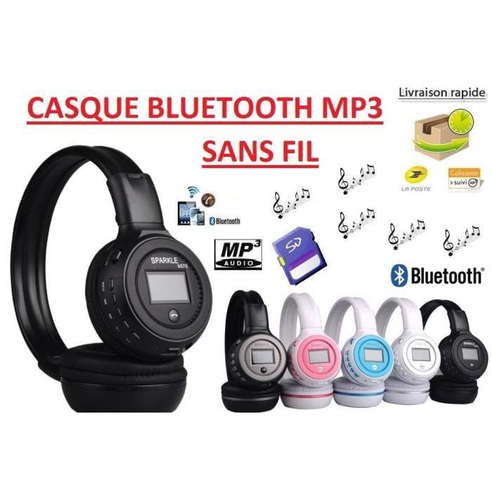 Casque Bluetooth Sans Fil Lecteur Mp3 Intégré Achat Casque