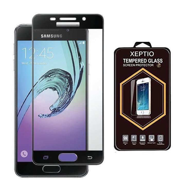 61603644cc7ef0 RongLe® Film Protection écran en verre trempé Samsung Galaxy A5 2017 FULL  cover contour noir - Screen protector
