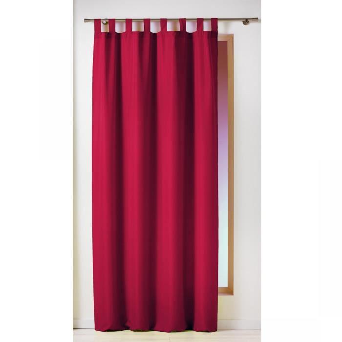 rideau passants 140x260 essentiel rouge achat vente rideau 100 polyester cdiscount. Black Bedroom Furniture Sets. Home Design Ideas