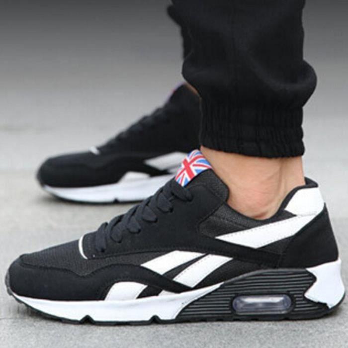 64941ef7d60 2016 Mode Chaussures Casual nouveaux hommes Tendance Canvas Homme Respirant  Air Chaussures Automne Flats Haut Clas…
