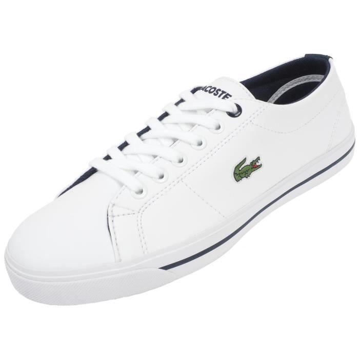fb7960cb445 Chaussures basses cuir ou synthétique Marcel117 blc j - Lacoste ...