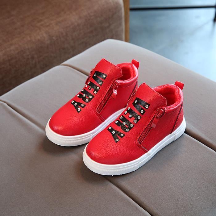 Chaussures Detente Fille ,2018 nouveau modèle, chaussures pour enfants, extérieur, loisirs, chaussures de peluche, chaud, beau,