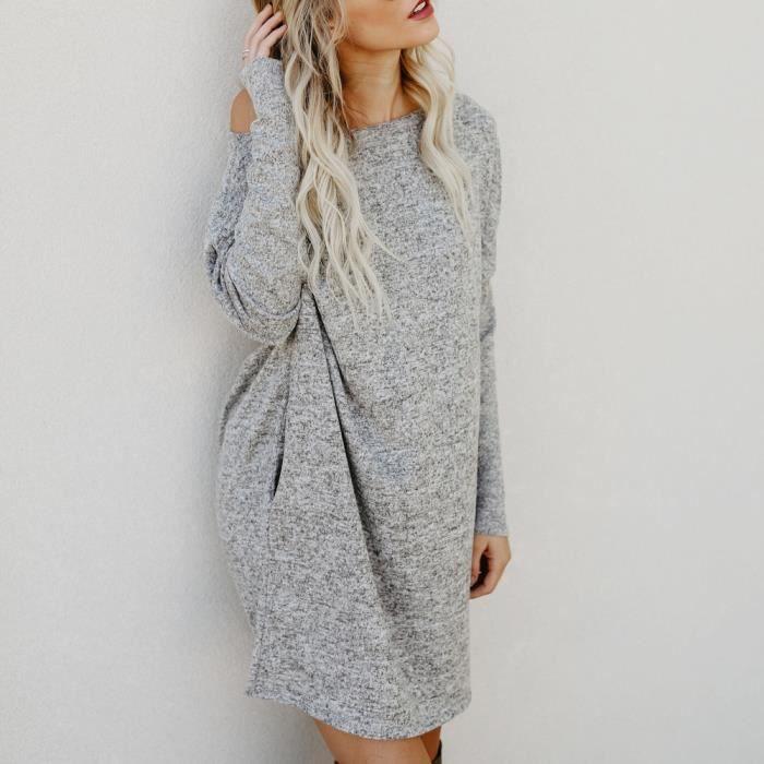 ae7172081e Robe pull grande taille - Achat / Vente pas cher