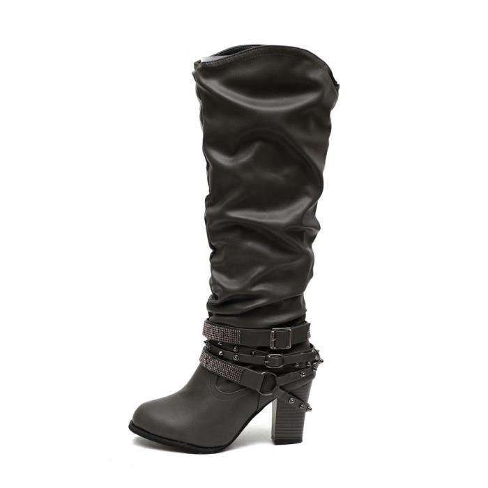 BOTTE Lansman@Mode Bottines Chaussures à talon rétro Riv