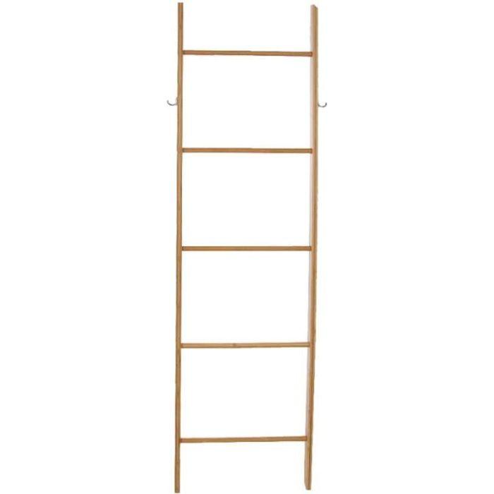 Echelle Porte Serviettes 5 Niveaux Bambou Achat Vente Porte