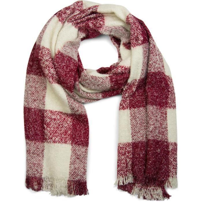 StyleBREAKER châle à carreaux avec franges, châle tricoté pour l ... 7bbf462c50c