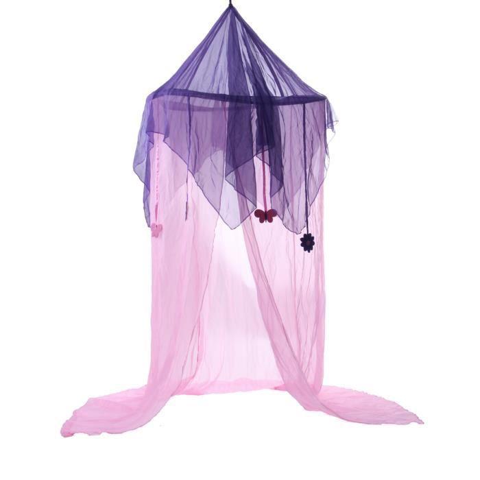 TEMPSA Moustiquaire Literie Dôme Bébé Chambre Rose Violet