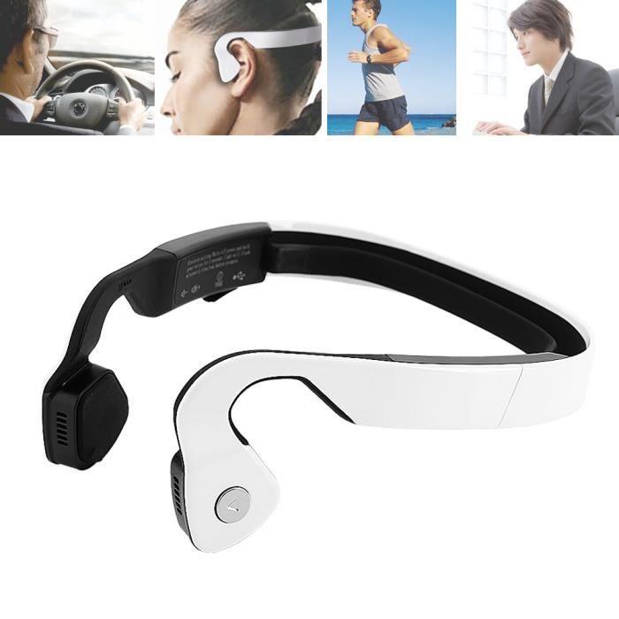 Casque À Conduction Osseuse Écouteur Bluetooth Sans Fil Pour Sport