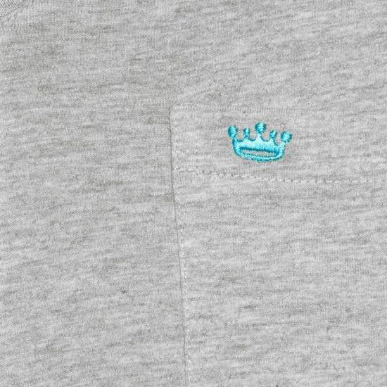 8282d0090ebbd VICOMTE A. T-shirt gris col V Gris Gris - Achat   Vente t-shirt - Soldes   dès le 9 janvier ! Cdiscount