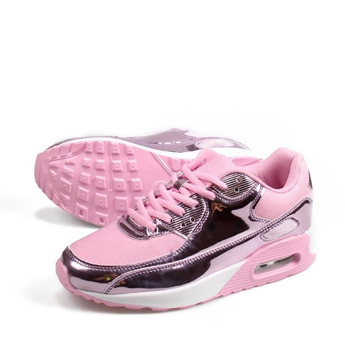 Femme Air Chaussures Respirantes Mode Baskets - Rose 6adPBay