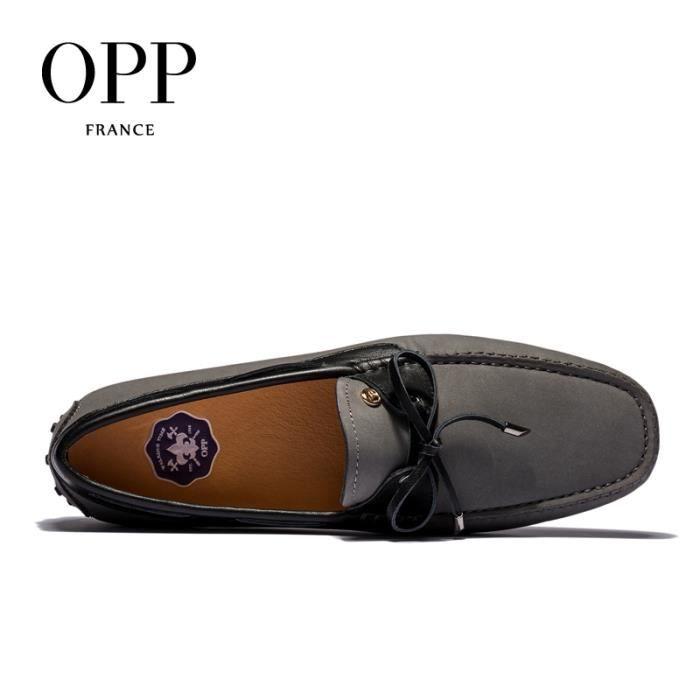OPP Homme Chaussure de Mocassin Simple Gris OD619gris40 4uU4ZtJFFz