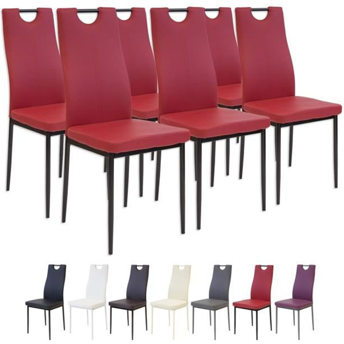 Salle a manger rouge fashion designs for Chaise de salle a manger rouge