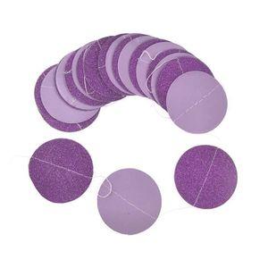 BANDEROLE - BANNIÈRE Glitter Cercle Polka Dots Garland Bannière Parti B
