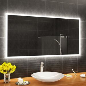 MIROIR SALLE DE BAIN ARTFORMA L01 150x90 cm Illumination LED miroir sur