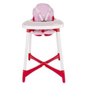 CHAISE HAUTE  Sevibaby - Coussin chaise haute - (Rose Star)